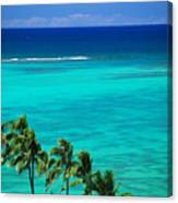 Palms And Ocean Canvas Print