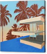 Palms On The Edge Canvas Print
