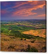 Palouse Skies Ablaze Canvas Print