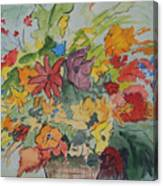 Pams Flowers Canvas Print