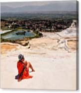 Pamukkale Cotton Castle Canvas Print