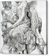 Pan Comforting Psyche Canvas Print