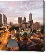 Panama City At Night Canvas Print