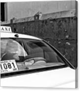 Panama City Taxi Mono Canvas Print