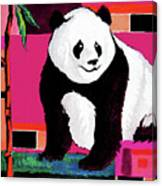 Panda Abstrack Color Vision  Canvas Print