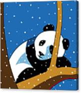 Panda at Peace Canvas Print