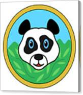 Panda Bear Head Canvas Print