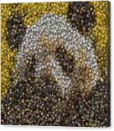 Panda Coin Mosaic Canvas Print