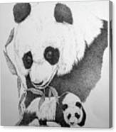 Panda Collage Canvas Print
