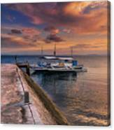 Pandanon Island Sunset Canvas Print