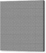 Pandora's Puzzle Greys Canvas Print