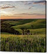 Pano - Flint Hills Sunset   Canvas Print