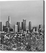 Pano Los Angeles City Black White Canvas Print