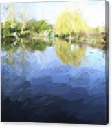 Panorama 2 Of Monets Garden In Giverny Canvas Print