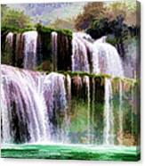 Panorama Ban Gioc Fall Vietnam  Canvas Print