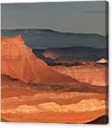 Panorama Dawn Light On The San Rafael Swell Utah Canvas Print