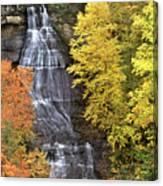 Panorama Fall Color Chapel Falls Upper Penninsula Mi Canvas Print