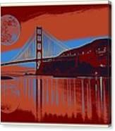 Panorama Golden Gate Bridge Landmark 2 Canvas Print