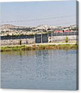 Panorama Of A Pond Canvas Print