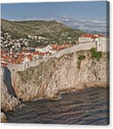 Panorama Of Dubrovnik, Croatia, In The Afternoon Canvas Print
