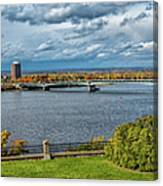 Panorama Of Gatineau, Quebec And Ottawa, Ontario Looking East On The Ottawa River Canvas Print