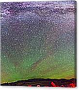 Panorama Of Milky Way Above The Table Canvas Print