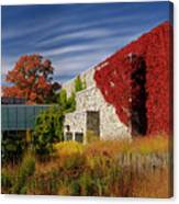 Panorama Of New Modern Building At Toronto Botanical Garden In E Canvas Print