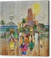 Panorama Of Oman Canvas Print