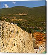Panorama Of Porto Katsiki Famous Paradise Beach Canvas Print