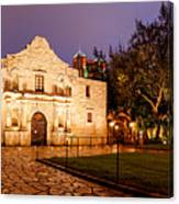 Panorama Of The Alamo In San Antonio At Dawn - San Antonio Texas Canvas Print