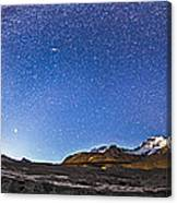 Panorama Of The Columbia Icefields Canvas Print