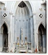 Panorama Of The Main Altar Of St. John The Evangalist Roman Catholic Church Schenectady Canvas Print