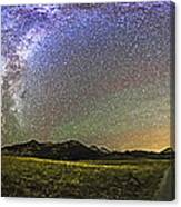 Panorama Of The Milky Way And Night Sky Canvas Print