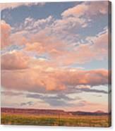 Panorama Of Twilight Clouds Over Tetilla Peak Recreation Area - Cochiti Lake New Mexico Canvas Print