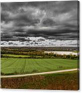 Panorama Of Wakefield's Fields Canvas Print