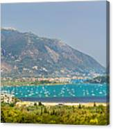 Panorama On Greek Island Canvas Print
