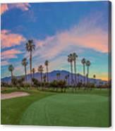Panorama Palm Springs Golfing Canvas Print