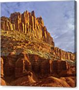 Panorama The Castle On A Cloudy Morning Capitol Reef National Park Canvas Print