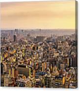 Panoramic Barcelona Canvas Print