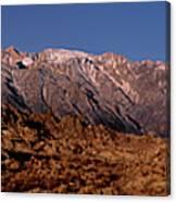 Panoramic Moon Set Alabama Hills Eastern Sierras California Canvas Print