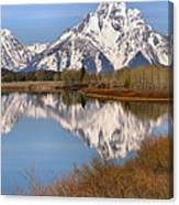 Panoramic Reflections At Oxbow Canvas Print