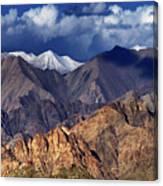 Panoramic Rocky Landscape Of Leh City Ladakh Jammu And Kashmir India Canvas Print
