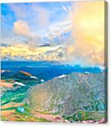 Panoramic Sunset On Mount Evans Canvas Print