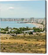 Panoramic View At The Salinas Beaches In Ecuador Canvas Print