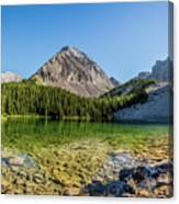 Panoramic View Of Chester Lake Canvas Print
