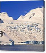 Panoramic View Of Glaciers And Iceberg Canvas Print