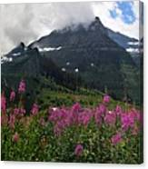 Panoramic View Of 'going To Sun Road' Canvas Print