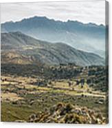 Panoramic View Of Monte Grosso And The Mountains Of Corsica Canvas Print