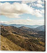 Panoramic View Of Olmi Cappella Valley With In Corsica Canvas Print