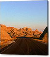 Panoramic View Of Road Going Canvas Print